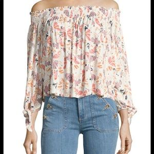 Free people off the shoulder floral top